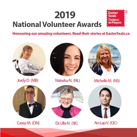 Image of the 2019 National Volunteer Award winners
