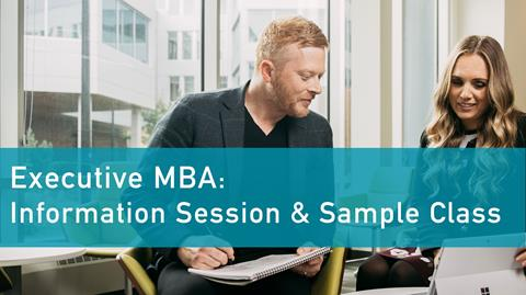 EMBA info session graphic