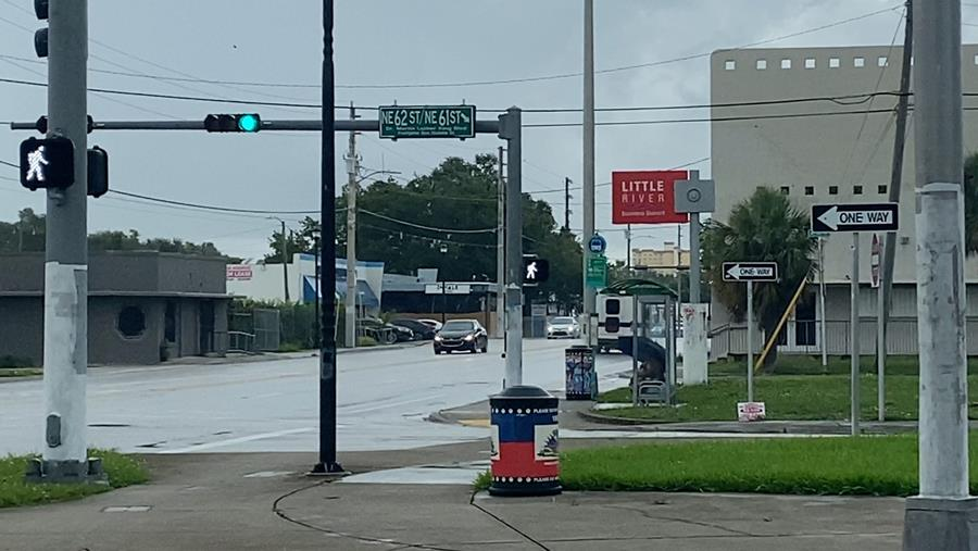 A typical street in the Little River neighborhood of Miami, where climate gentrification is currently underway. Credit: Marco Tedesco