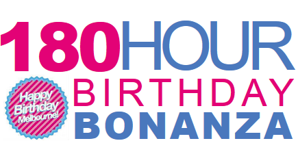 Special offers to get you celebration with our 180 Hour Birthday Bonanza