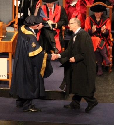 Evan's graduation ceremony