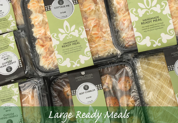 Large Ready Meals (excluding fish pie)