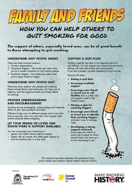 Family and friends: how you can help others to quit smoking for good.