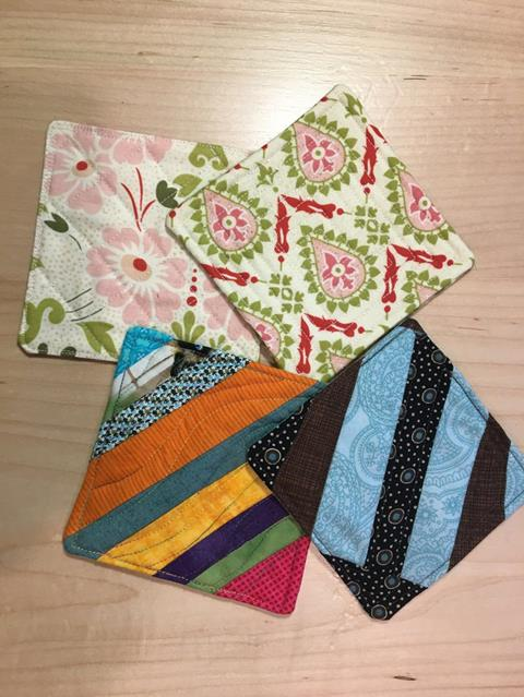 Scrap Buster Coasters with Julie