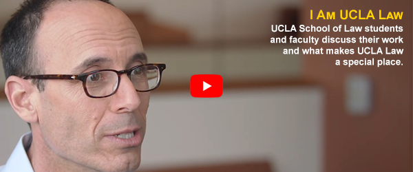 I am UCLA Law video featuring Adam Winkler
