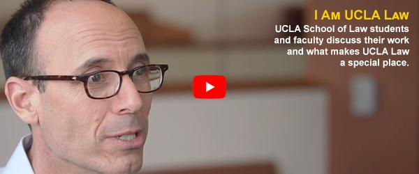 I am UCLA Law video featuring Adam Winkler