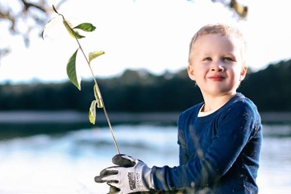 NaturallyGC Junior Landcare Tree Planting