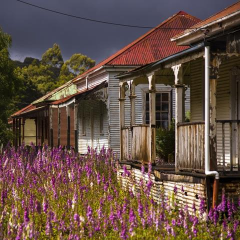 The abandoned Hydro village of Lake Margaret. Photo by Rob Burnett, courtesy Tourism Tasmania