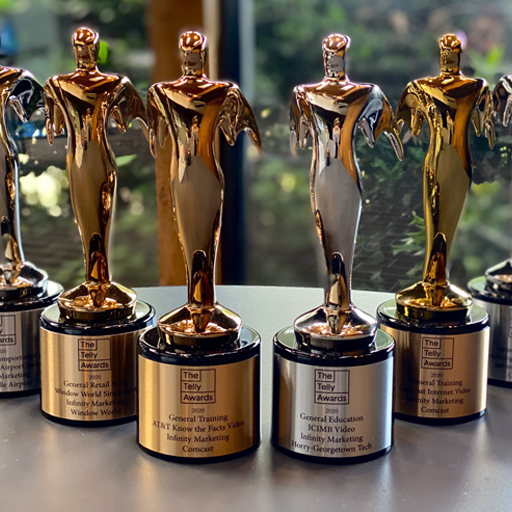Infinity Brings Home Seven Telly Awards