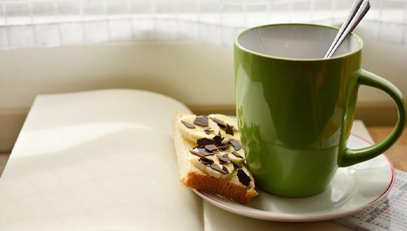 Cup of coffee and snack