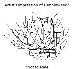 Very bad drawing of Tumbleweed created in MS Paint