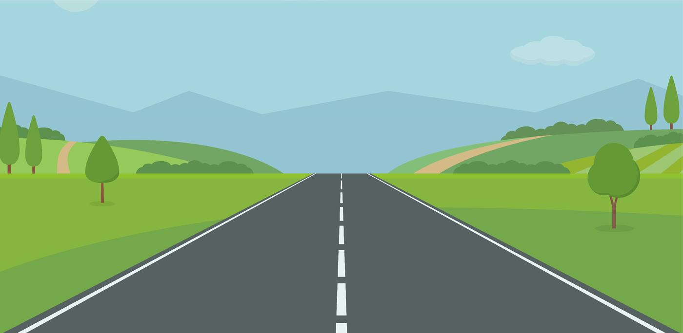 Graphic of a rural road