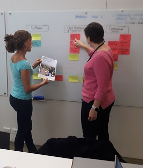 Image of Project Groundswell team members brainstorming at a workshop in April