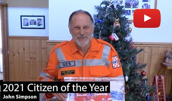 2021 Citizen of the Year, John Simpson