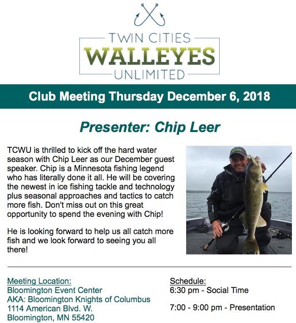 Twin Cities Walleye Unlimited: Ice Fishing