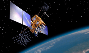 A GPS Block IIR(M) satellite. The US has previously withheld access to the system. GPS.gov
