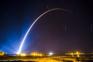 An Atlas V rocket carrying a Space Based Infrared System Geosynchronous Earth Orbit satellite for an Air Force mission lifts off from Cape Canaveral Air Force Station, Fla., Jan. 19, 2018. Credit: United Launch Alliance via US Department of Defense