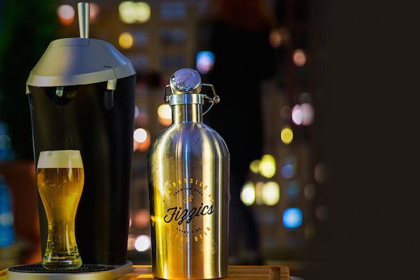 FIZZICS IS AN AT-HOME BEER TAP THAT TURNS ANY BEER INTO DRAFT BEER