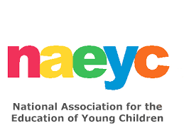 NAEYC logo in multiple colors with National Association for the Education of Young Children underneath.