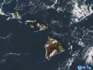 A view of Hawaii taken by the NOAA's new GOES-17 satellite.