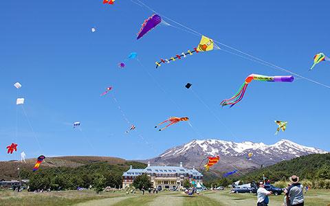 Kite day at Mahi Aroha.