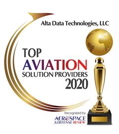 Alta Data Technologies Recognised as a Top 10 Aviation Solutions Supplier