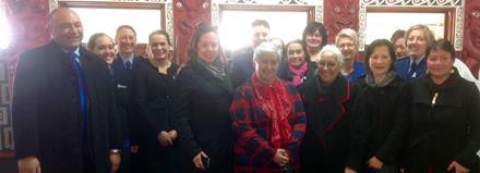 Minister for Ethnic Communities, Hon Peseta Sam Lotu-Iiga along with Maori and Ethnic Elders