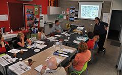 Artists at workshop