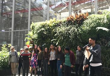 Slam poets compete at the Cal Academy of Sciences