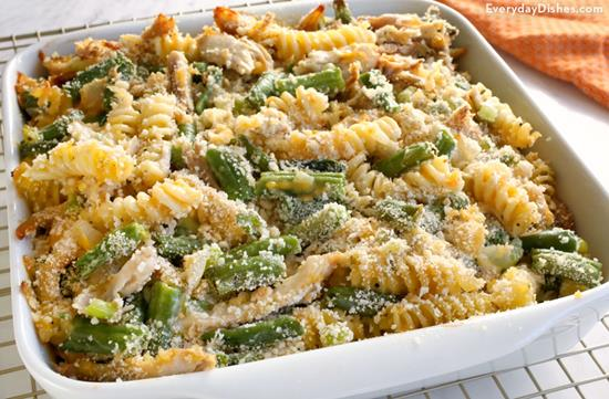 Leftover Turkey Pasta Casserole