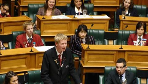Youth Parliament in session