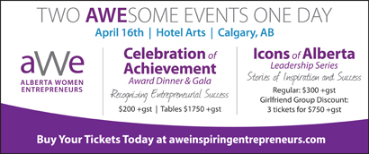 Ad: Alberta Women Entrepreneurs conference and gala