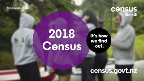 Census 2018 - its how we find out - with blurred people behind the text.
