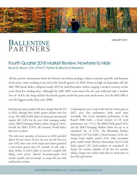 4th Quarter 2018 Market Review: Nowhere to Hide
