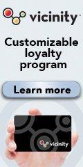 Ad: Vicinity customizable loyalty program