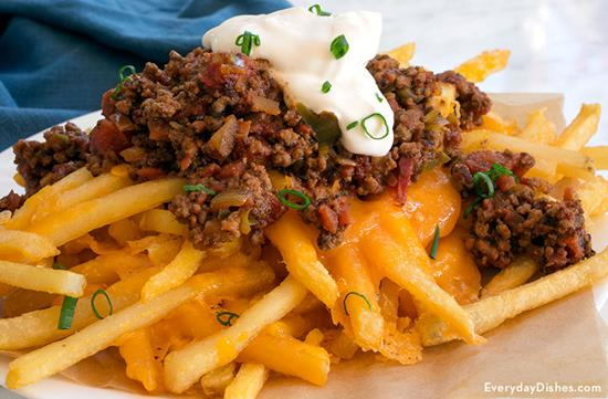 Baked Chili Cheese Fries