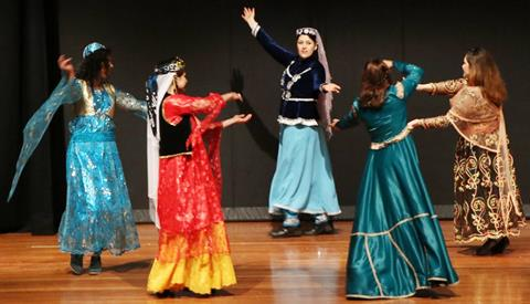Performers at the Mehregan celebration