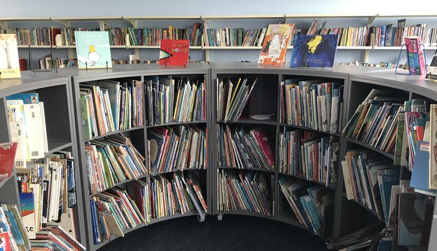 community library at Carlton Primary School