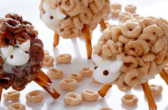 Cheerios sheep snacks