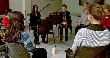 People attending a mindfulness session