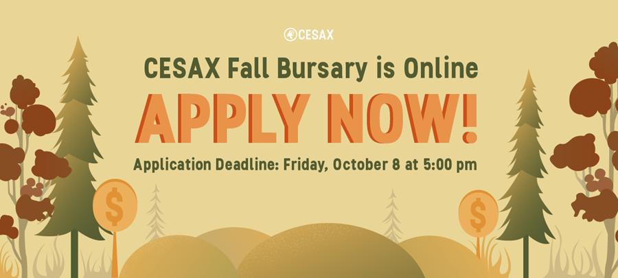 CESAX Fall Bursary is online: Apply Now