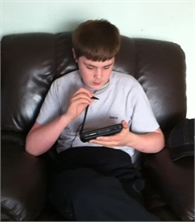 Alex from St Neots and his new communication device