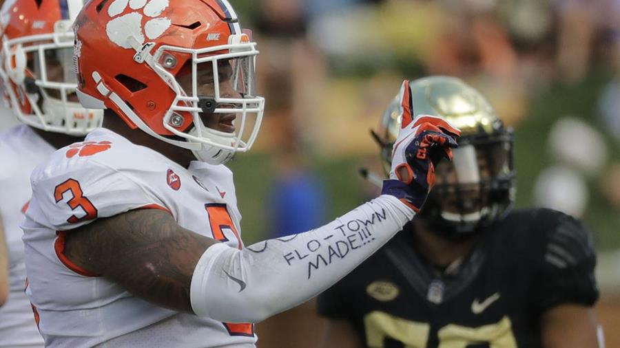 Clemson junior defensive end Xavier Thomas of Florence was a 5-star recruit out of high school. He played at IMG Academy in Florida his senior year after three years at Wilson High School.
