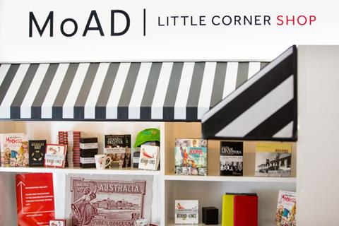 Tote bags at MoAD's Little Corner Shop