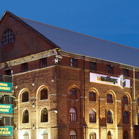 Image of The Maltings at night