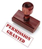 permission granted stamp