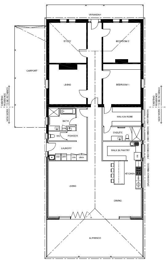 Floorplan for Home Extensions Adelaide