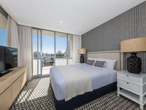 A bedroom in the newly refurbished Sebel Sydney Manly Beach
