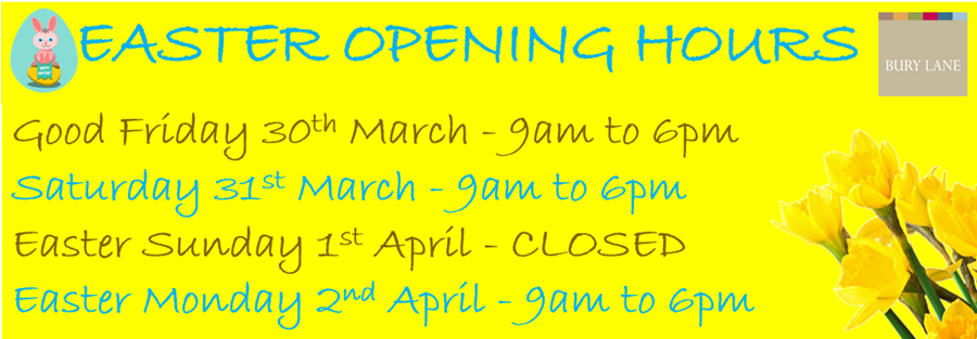Bury Lane Farm Shop Easter Opening Hours 2018