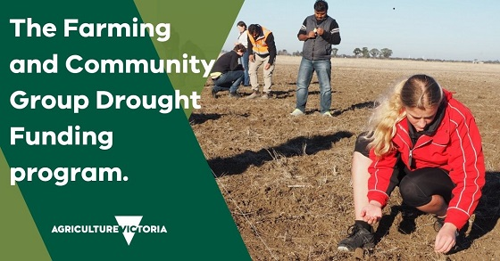 the farming and community group drought funding program